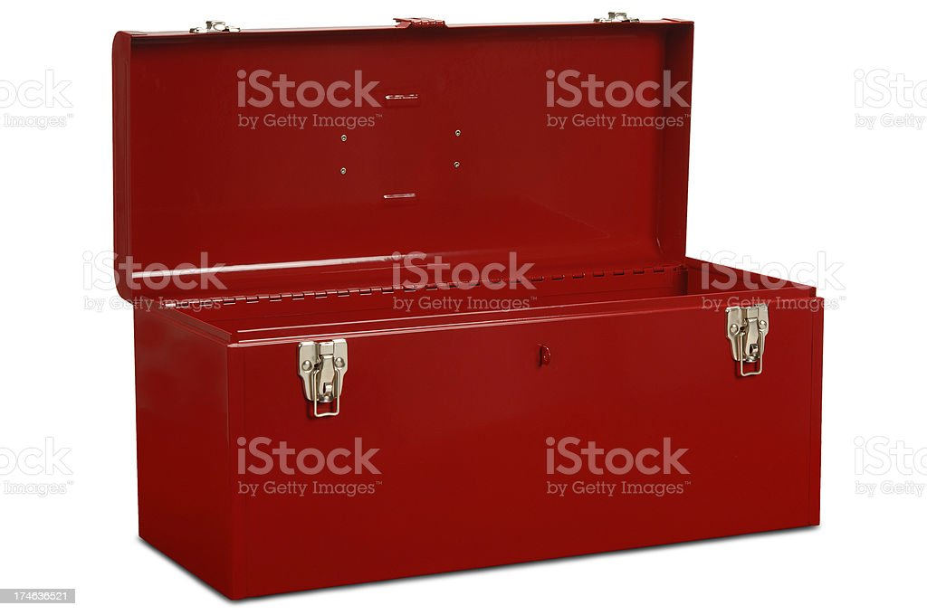 Toolbox with Path stock photo