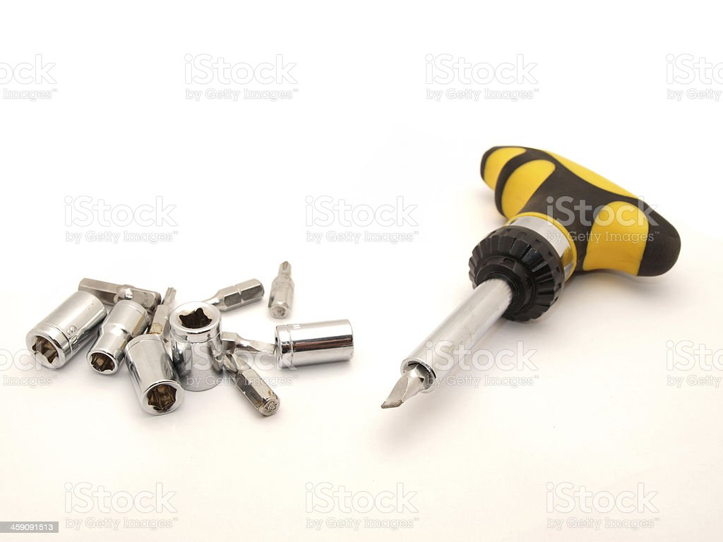 Toolbox with screwdriver royalty-free stock photo