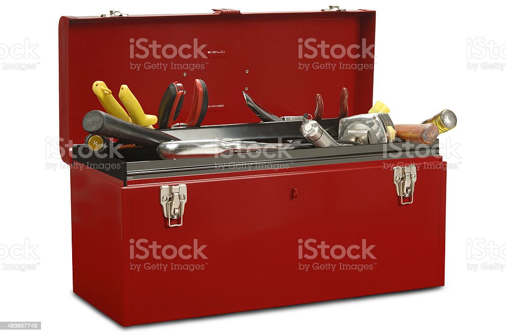 Toolbox with Tools stock photo