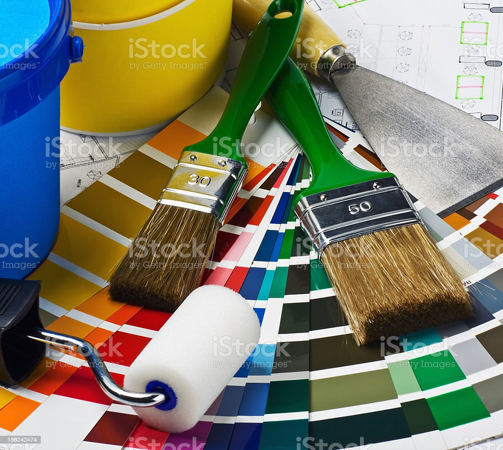 tools and accessories for home renovation royalty-free stock photo