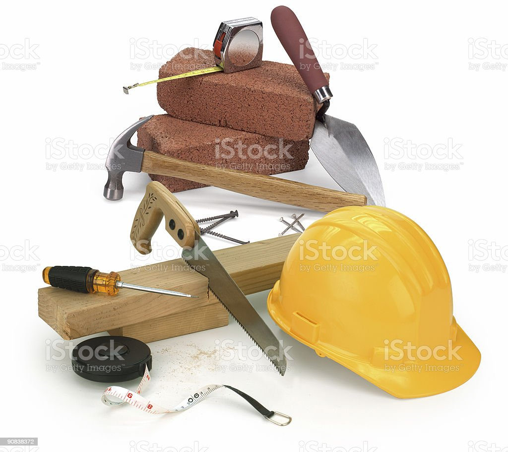 tools and construction materials royalty-free stock photo