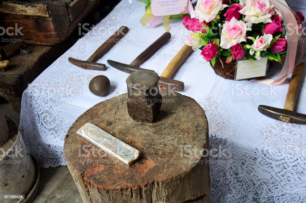 Tools and equipments for handmade stock photo
