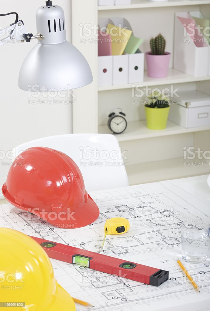 Tools and papers royalty-free stock photo