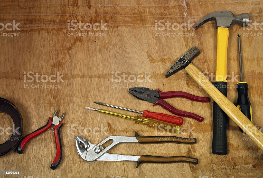 Tools assortment royalty-free stock photo