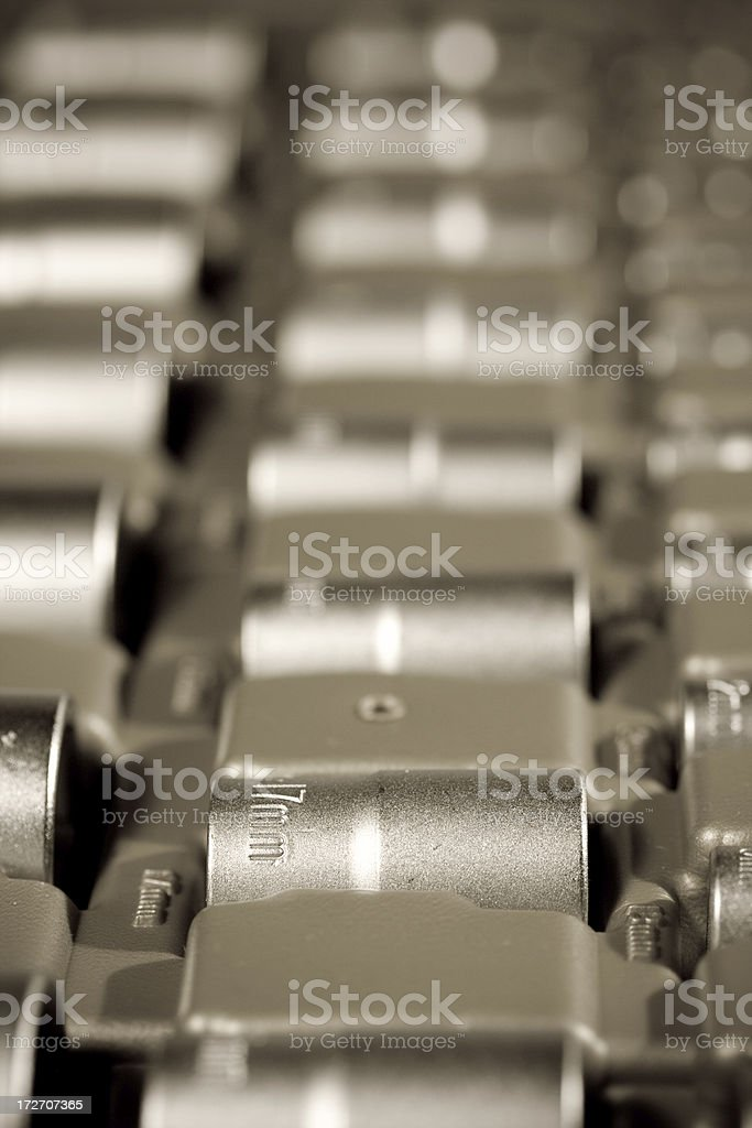Tools background stock photo