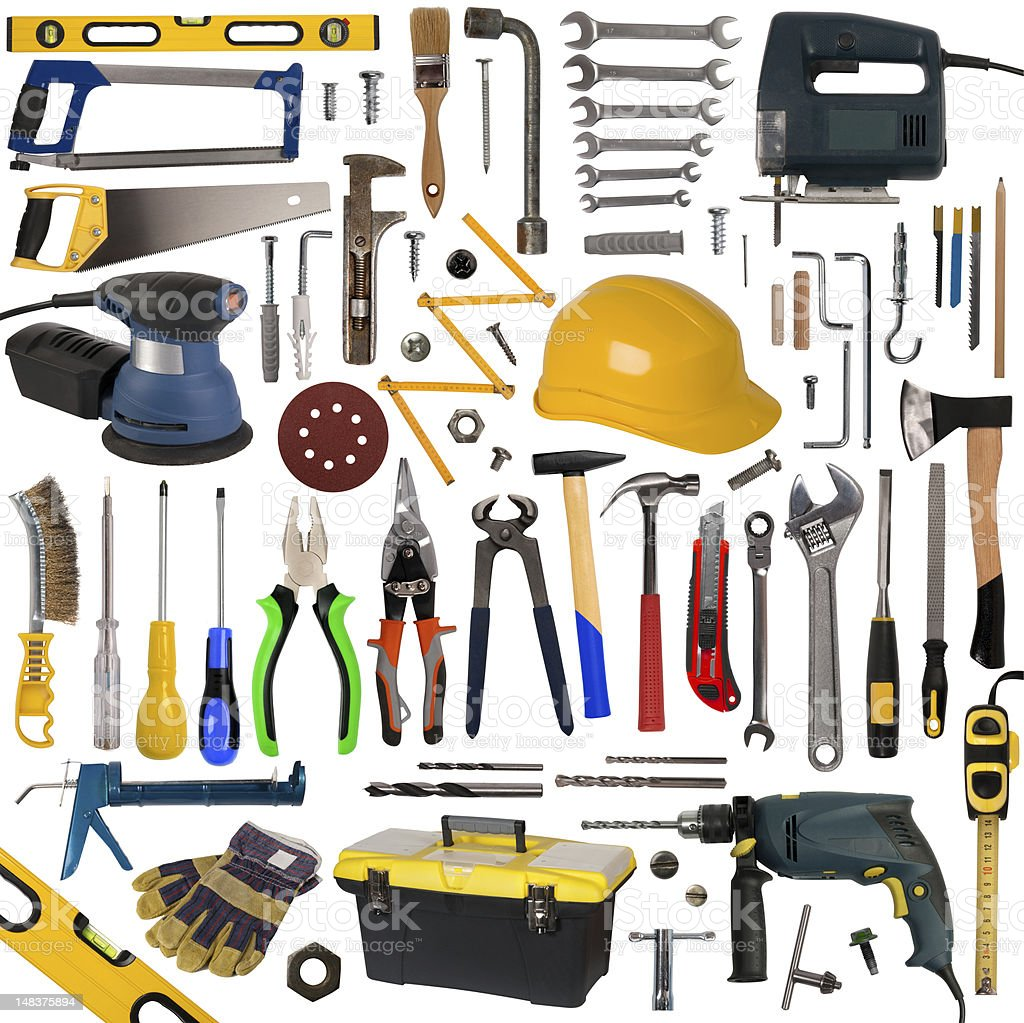 Tools collection royalty-free stock photo