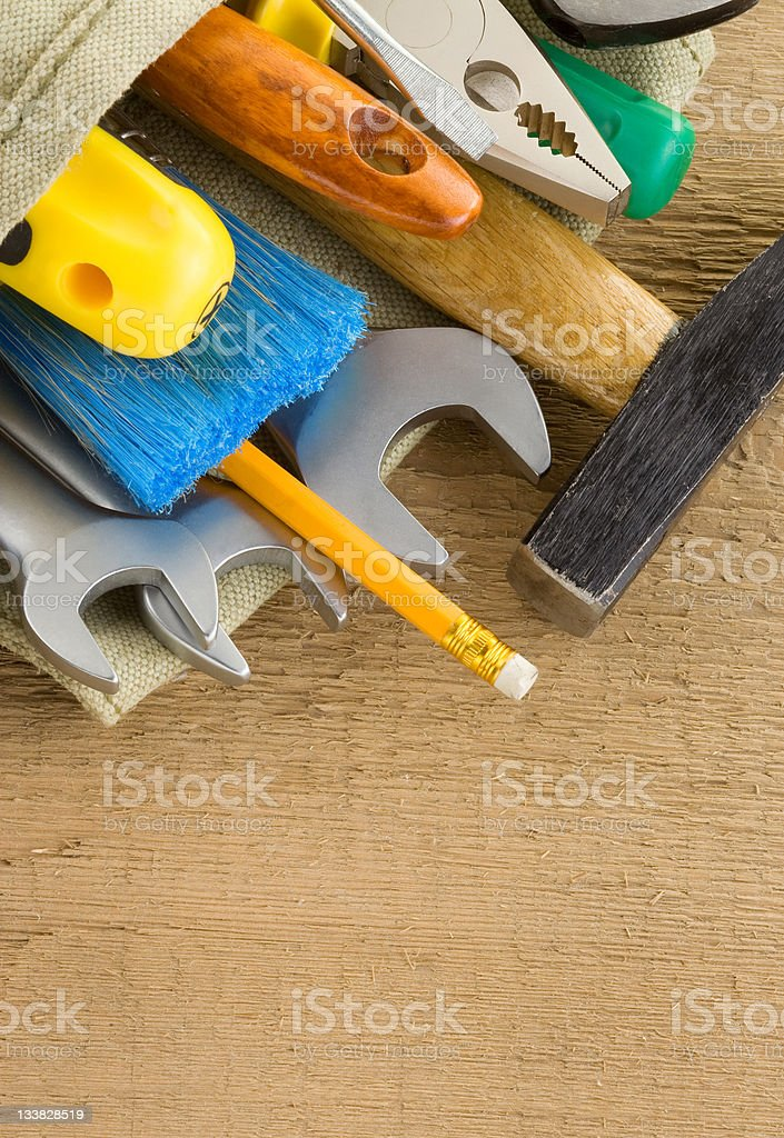 tools construction and bag royalty-free stock photo