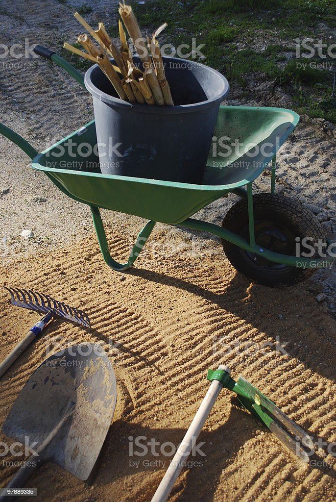 Tools for Agriculture Work royalty-free stock photo