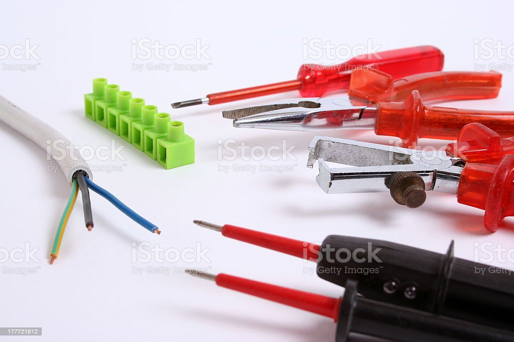 Tools for an Electician stock photo