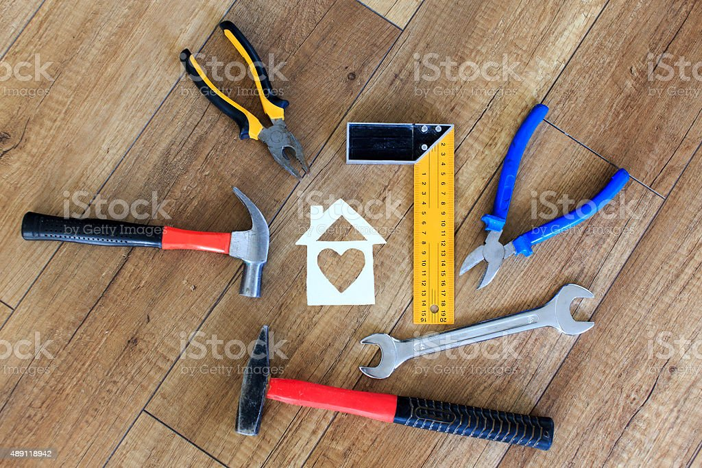 tools for building a house stock photo