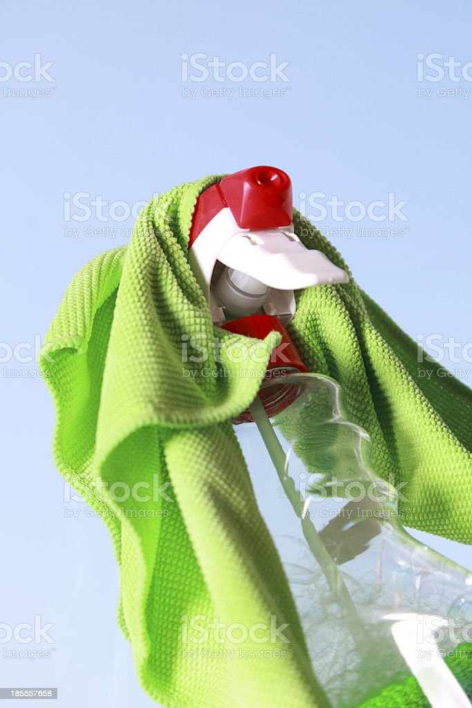 Tools for cleaning windows royalty-free stock photo