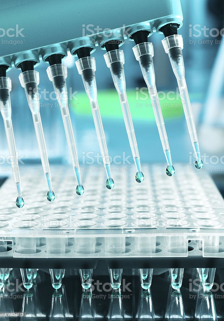 Tools for DNA amplification, scientific background stock photo