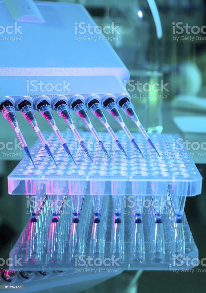 Tools for DNA analysis stock photo