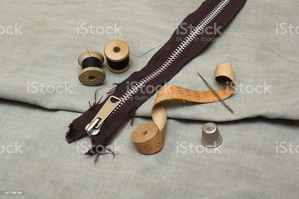 Tools for embroidery royalty-free stock photo