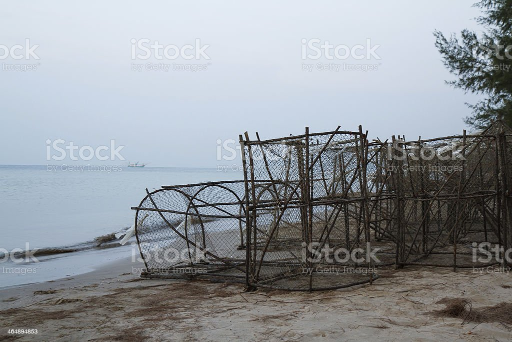 Tools for fish traps,thailand stock photo