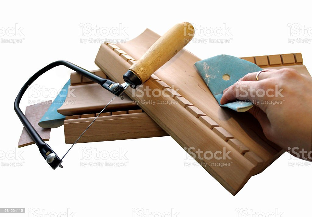 Tools for furniture production stock photo