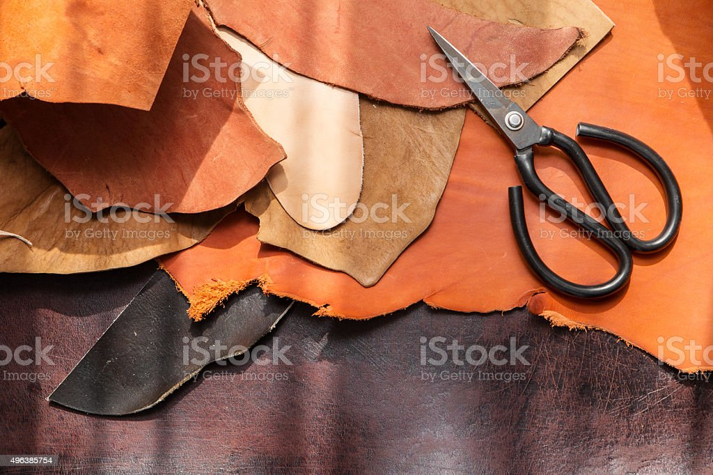 tools for leathercraft stock photo
