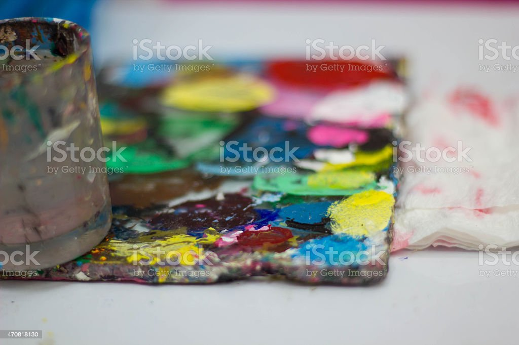 Tools for nail painting stock photo