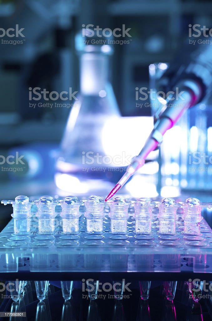 Tools for PCR amplification of DNA stock photo