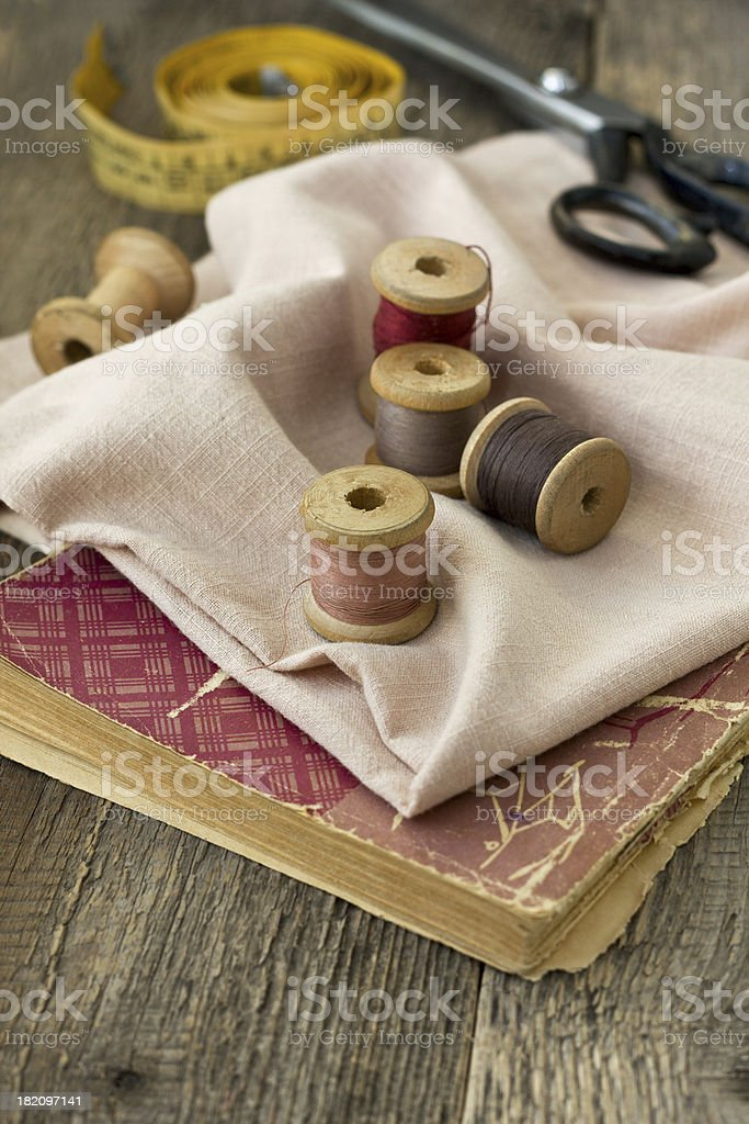 Tools for sewing royalty-free stock photo