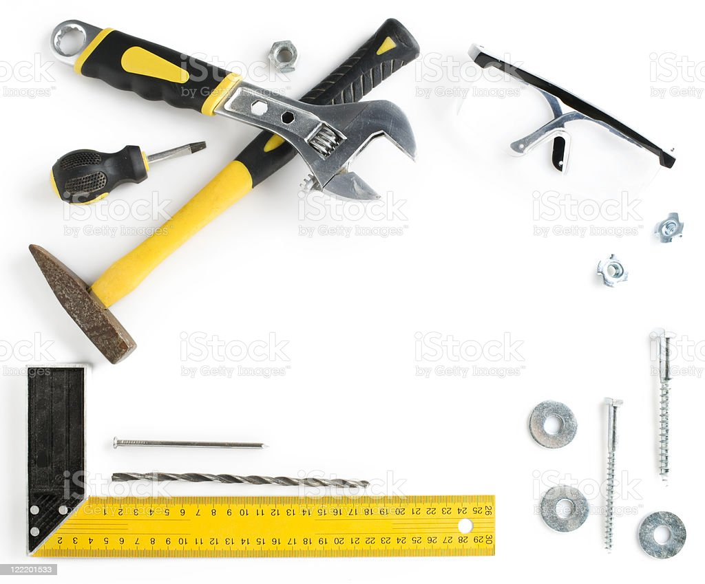 Tools frame with copy space royalty-free stock photo