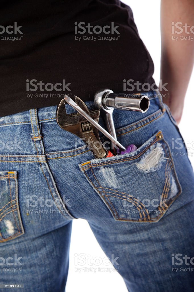Tools in a Back Pocket royalty-free stock photo