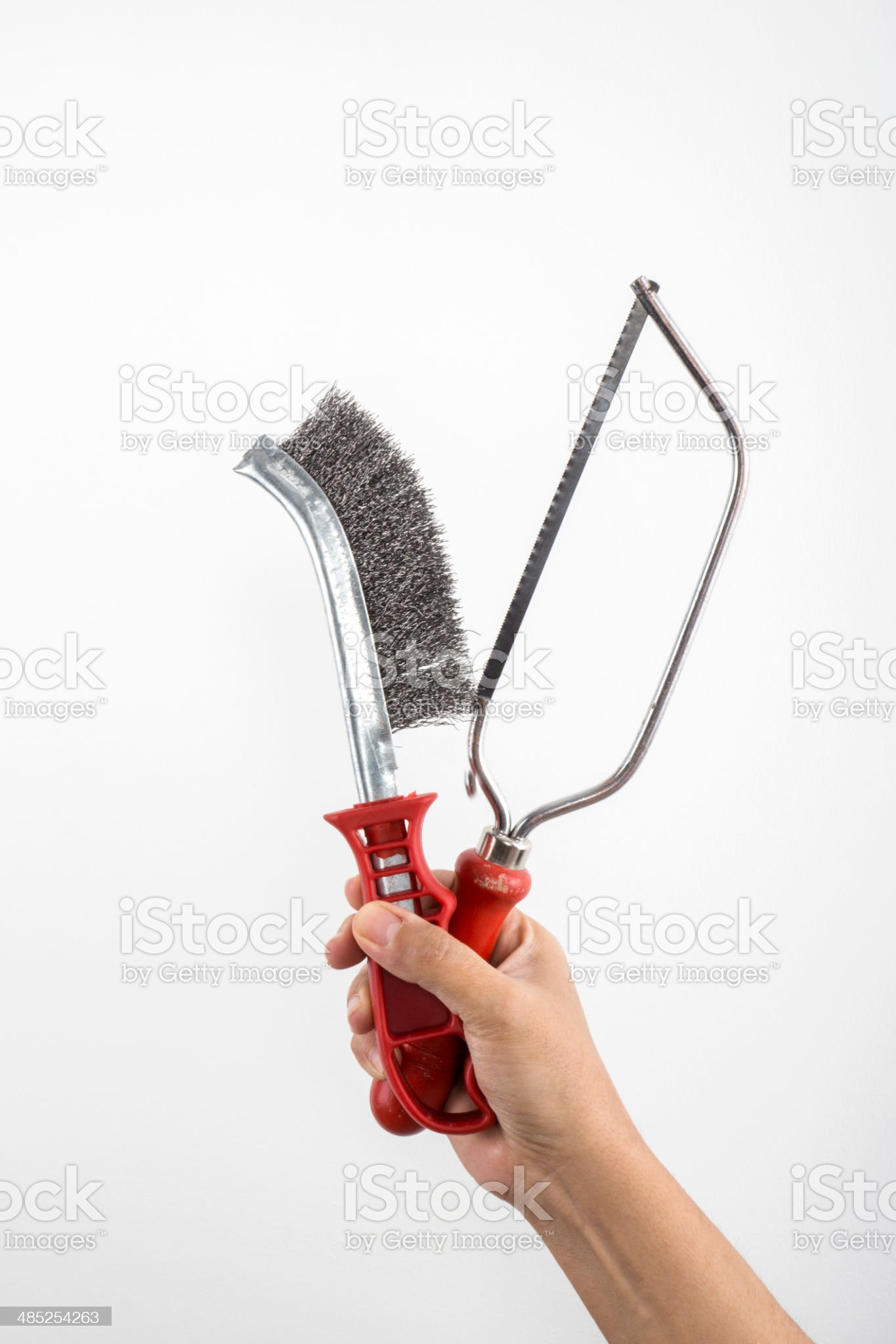 Tools in Hand royalty-free stock photo