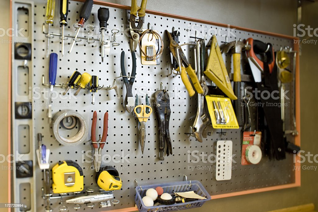 Tools in the garage royalty-free stock photo