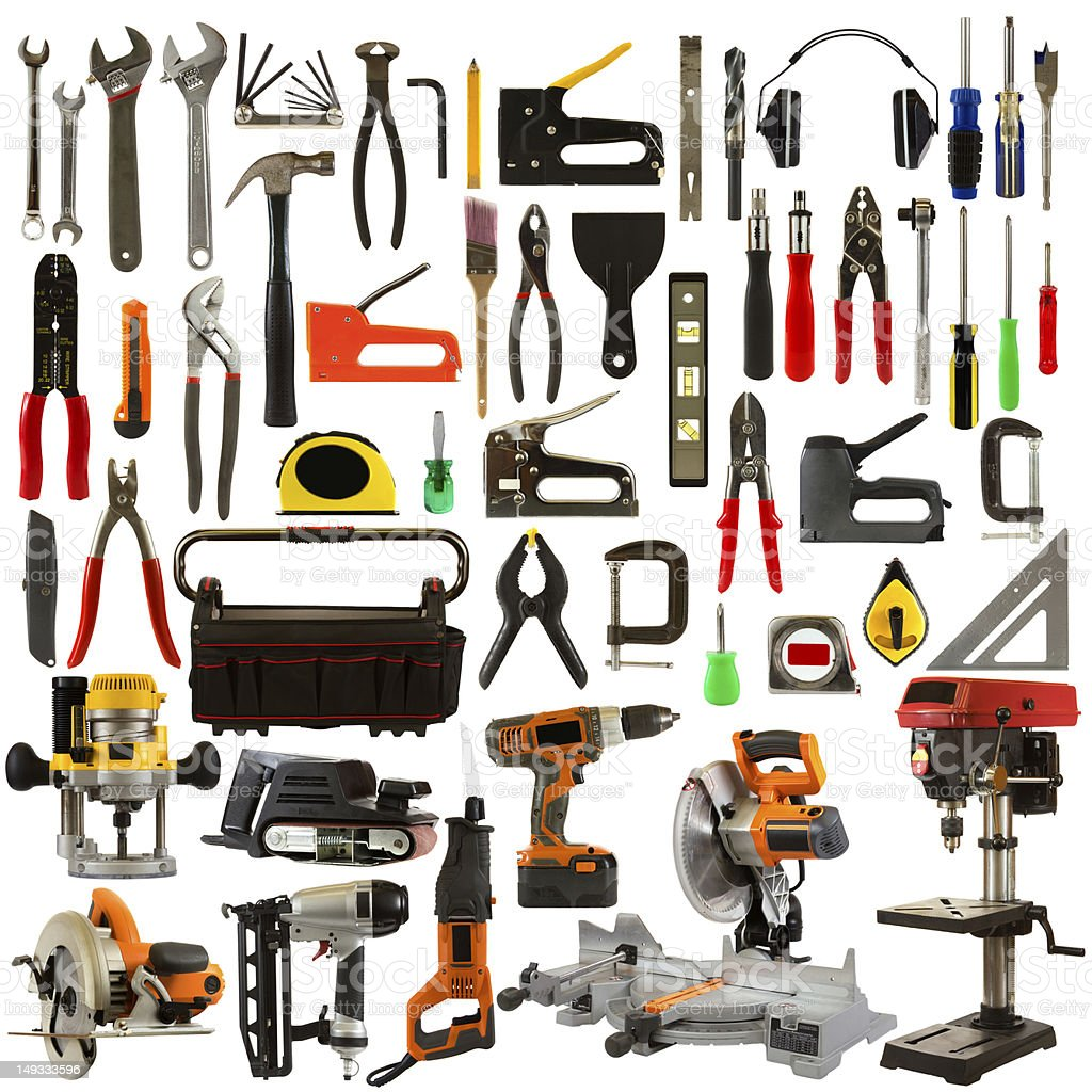 Tools Isolated on a White Background royalty-free stock photo