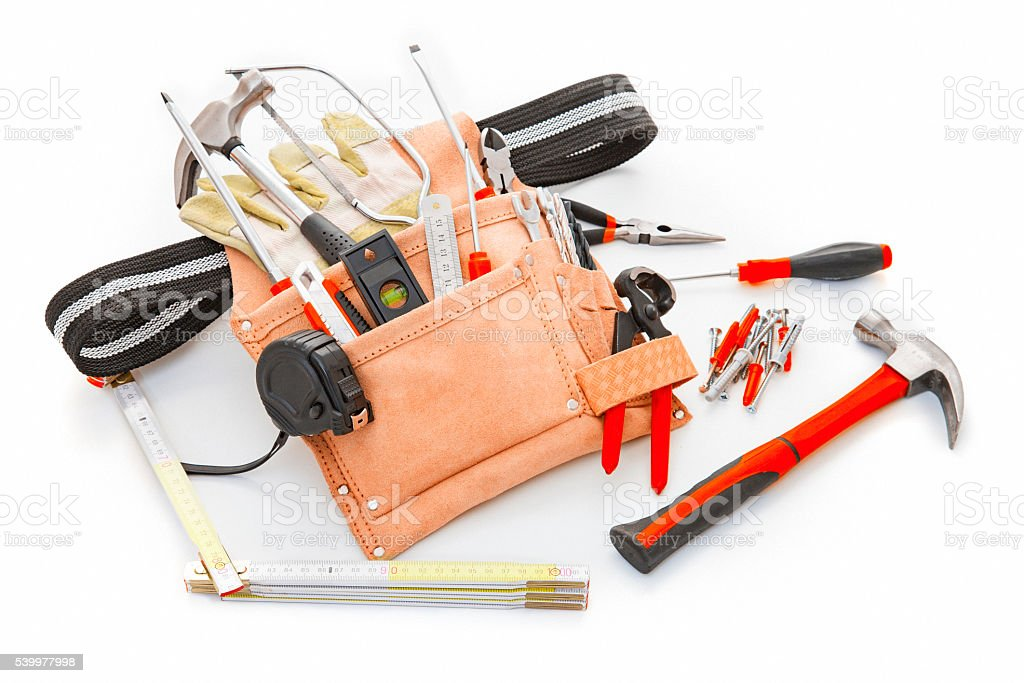 Tools isolated on a white background stock photo