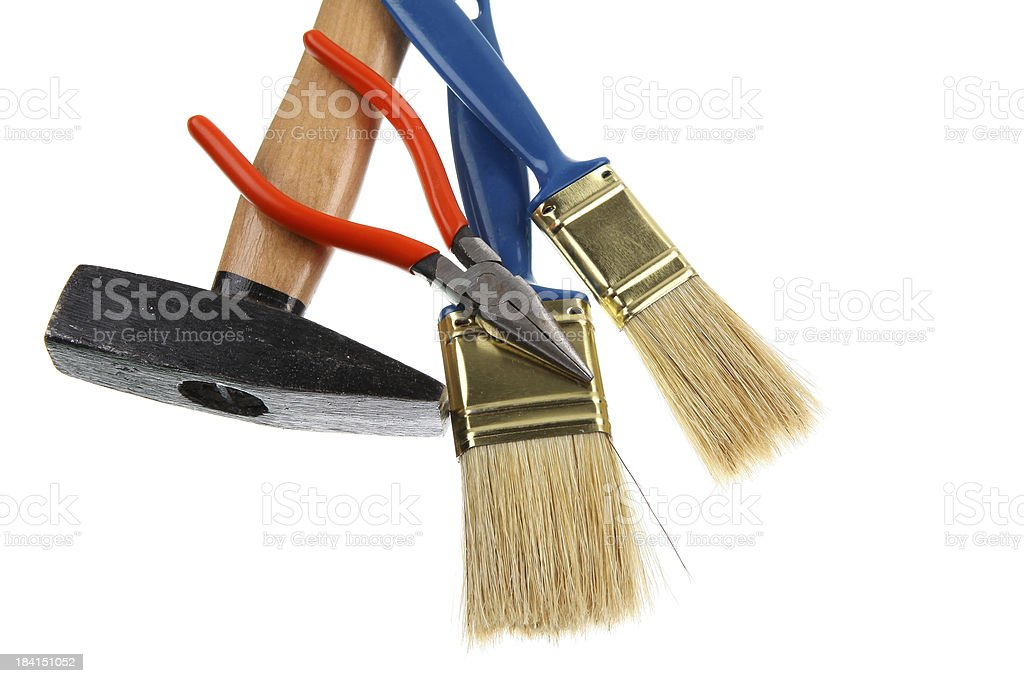 Tools isolated on white royalty-free stock photo