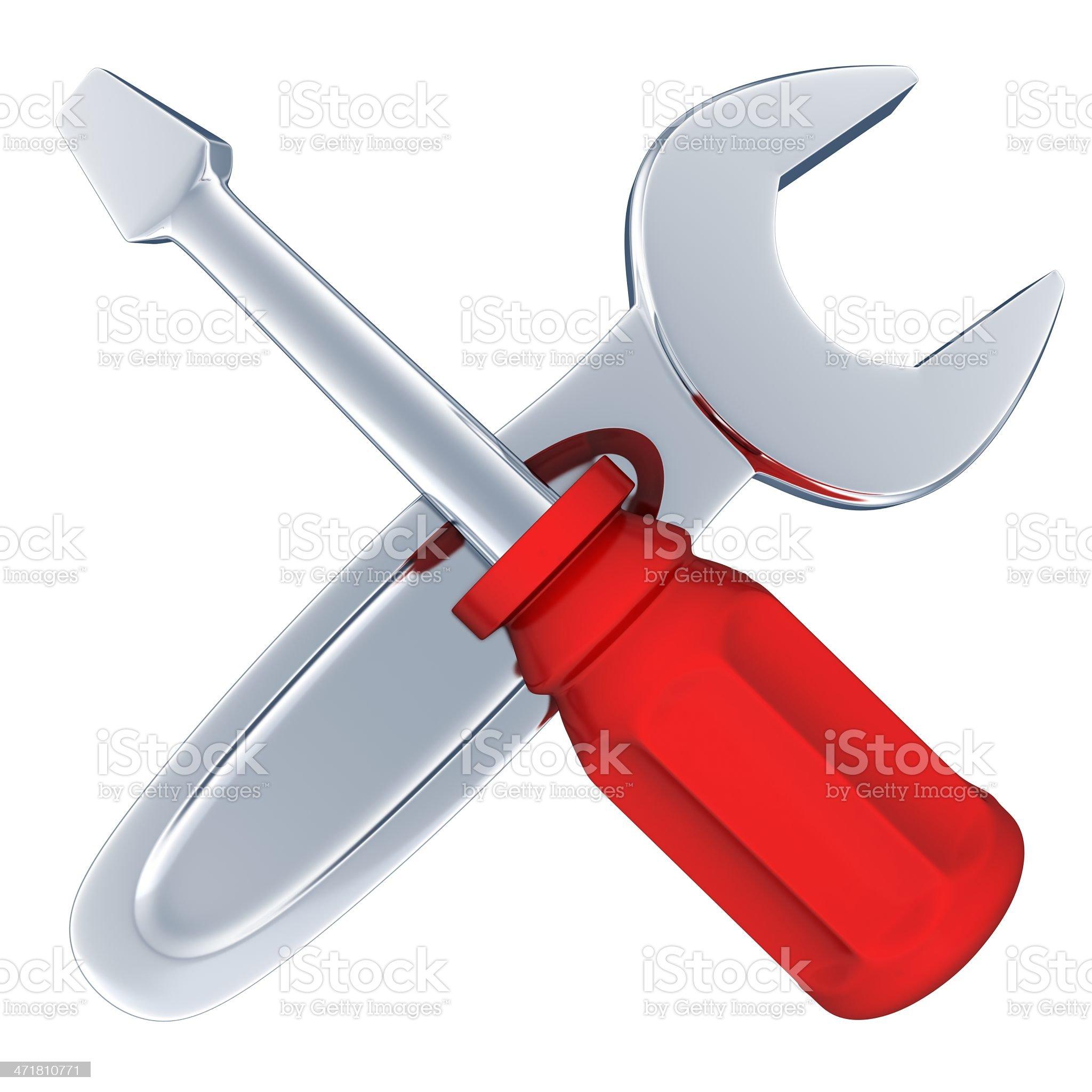 Tools isolated royalty-free stock photo