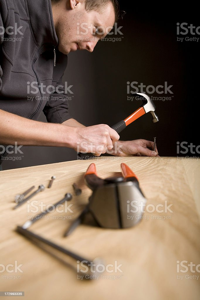 Tools of a Carpenter. royalty-free stock photo