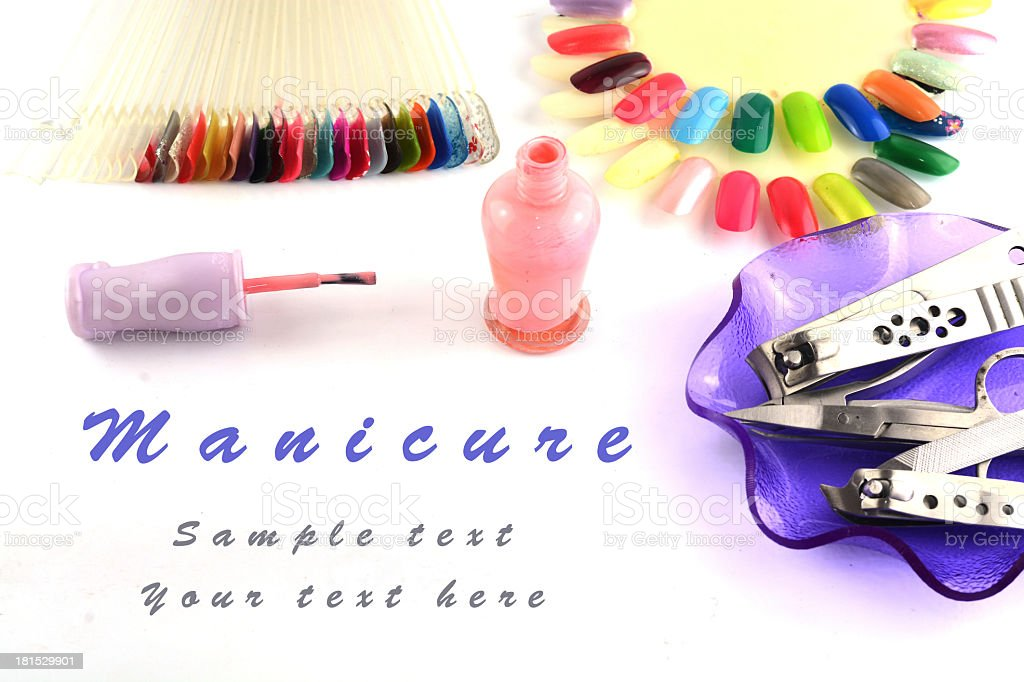 Tools of a manicure set royalty-free stock photo