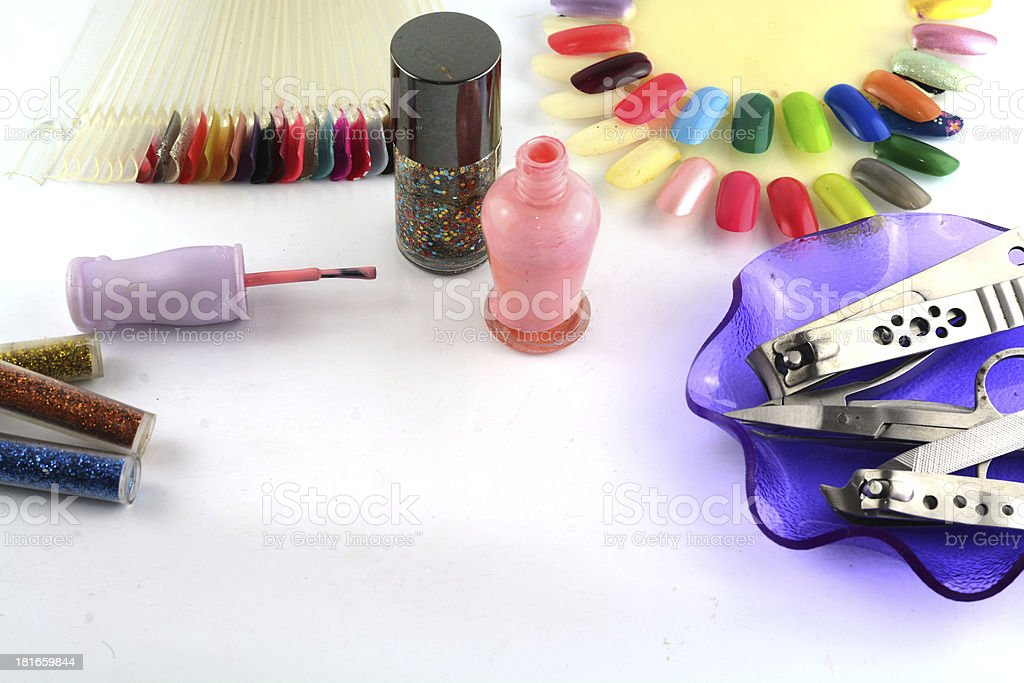 Tools of a manicure set stock photo