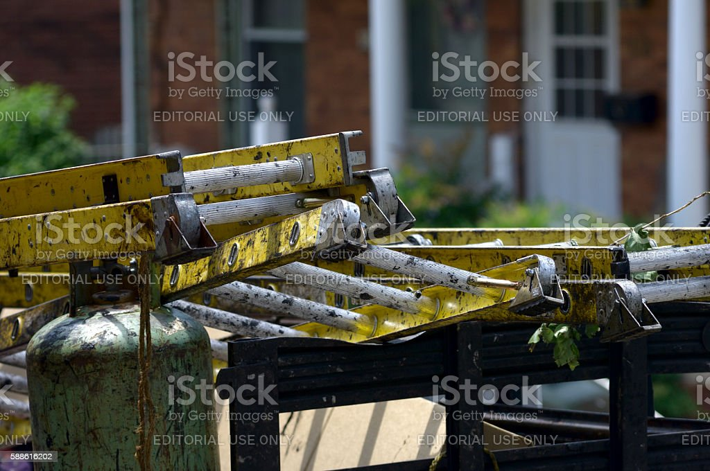 Tools of Independent Contractor stock photo