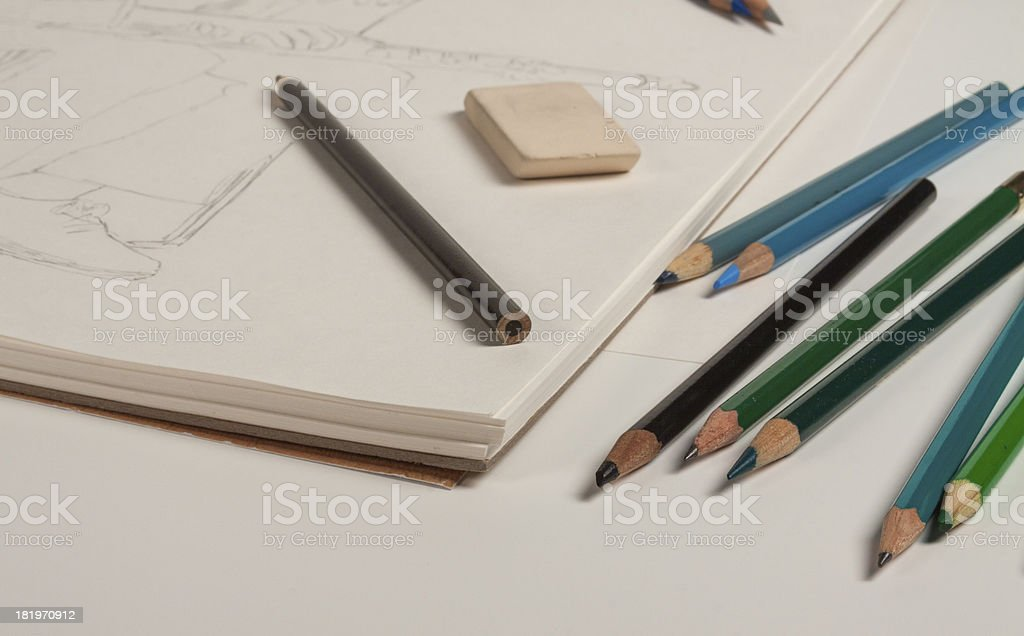 Tools of the art trade royalty-free stock photo