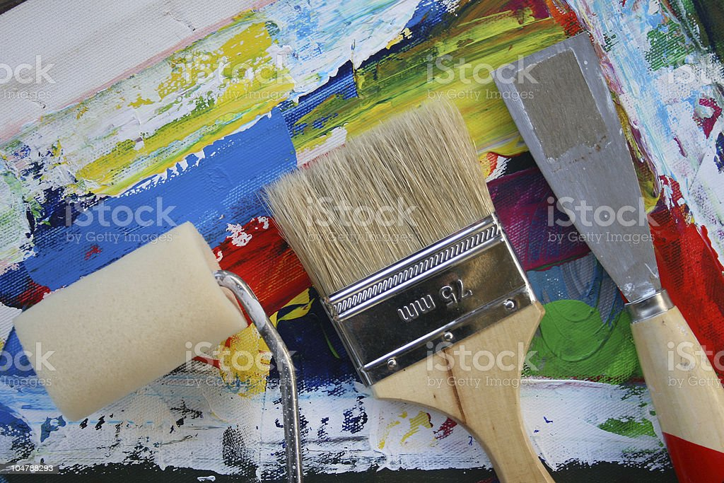 Tools of the artist. royalty-free stock vector art