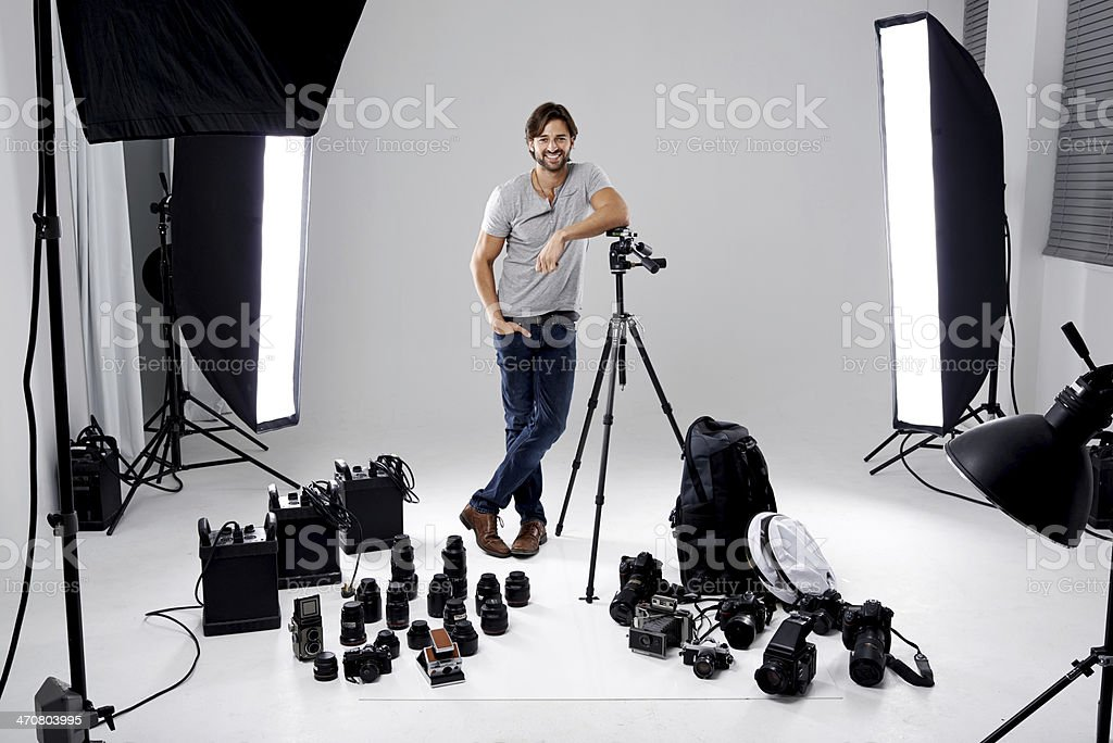 Tools of the photographers trade stock photo
