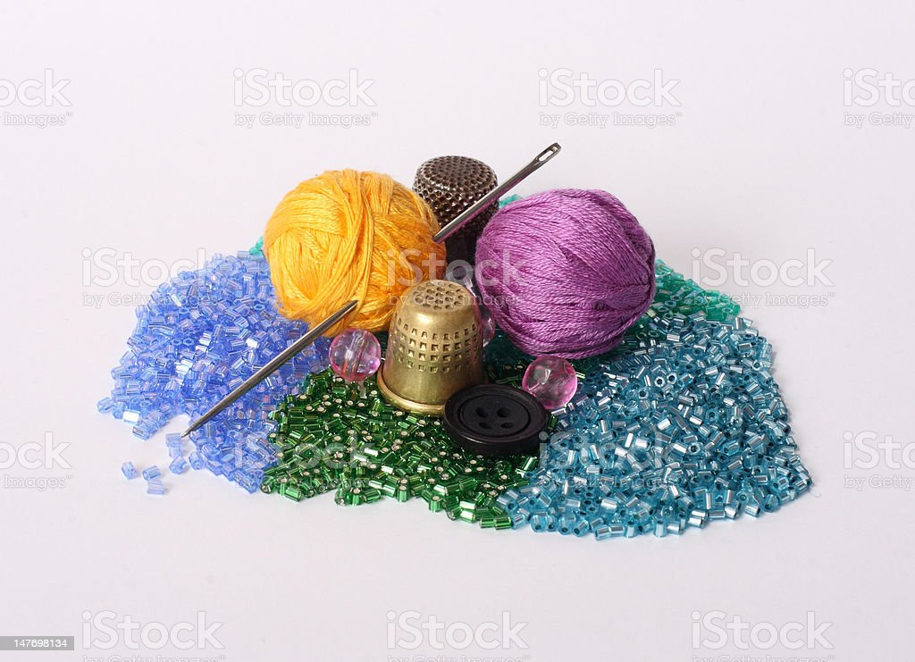 Tools of the seamstress royalty-free stock photo