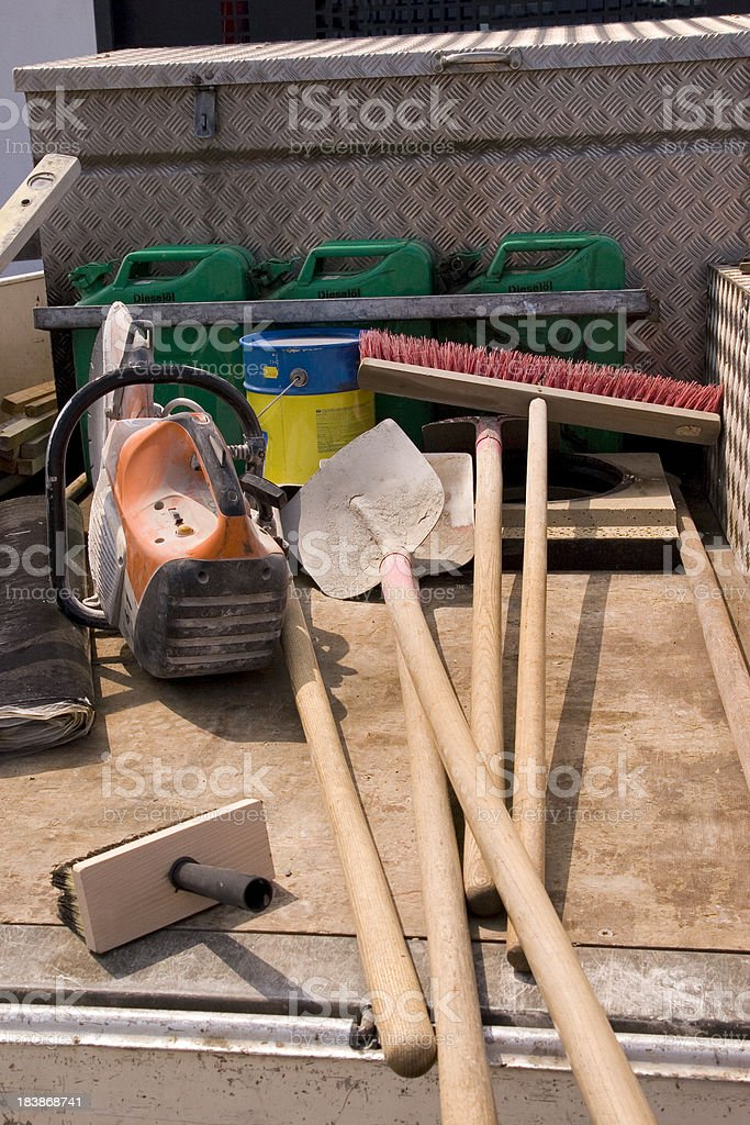 Tools on a Truck royalty-free stock photo