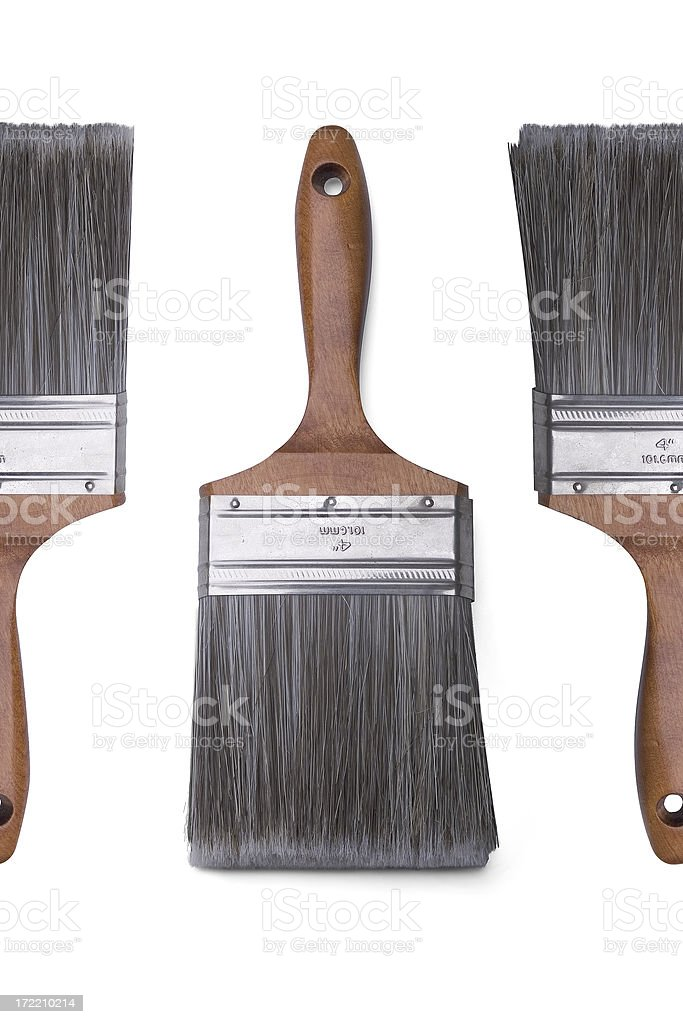Tools: Paint Brush with Clipping Path stock photo