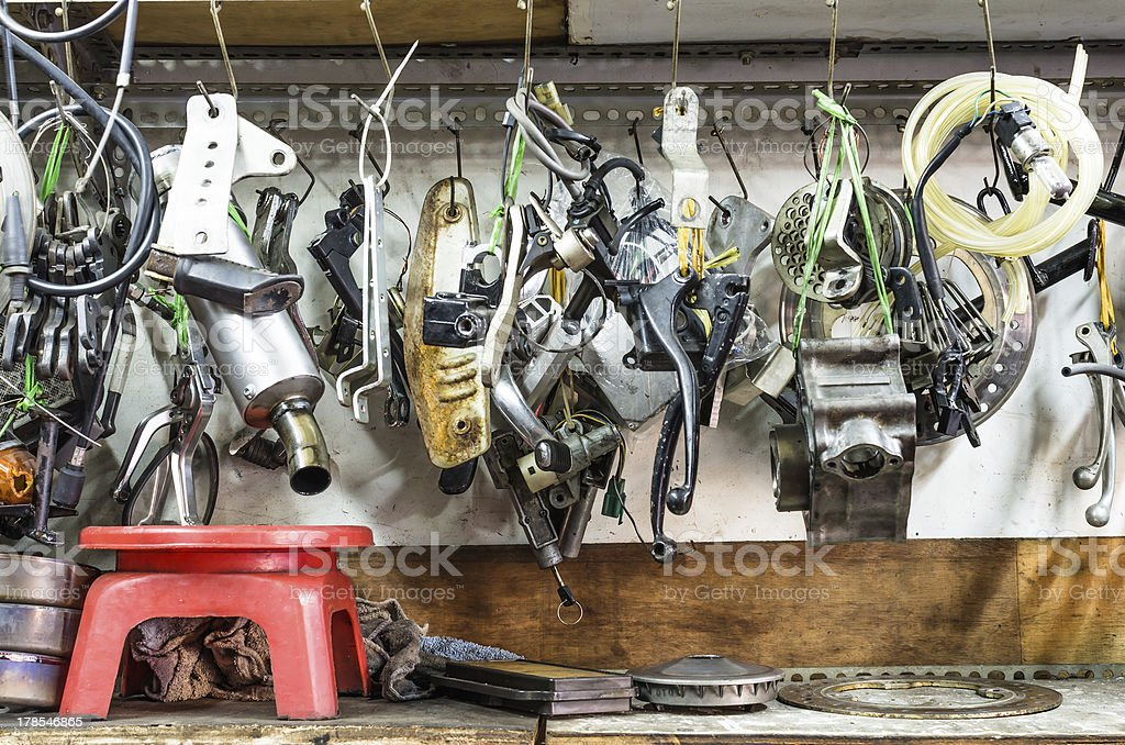 Tools Panel in mechanic Shop royalty-free stock photo