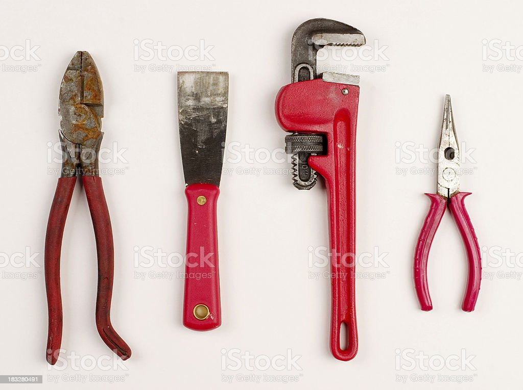 Tools: Red royalty-free stock photo