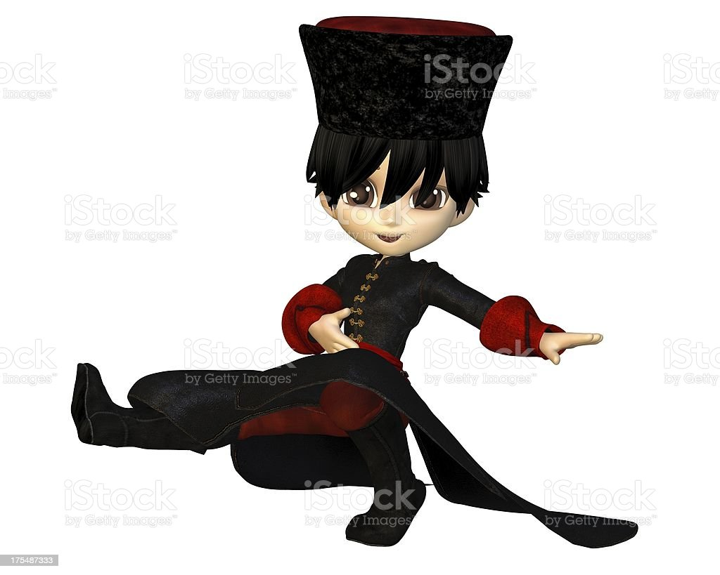 Toon Cossack Dancer stock photo