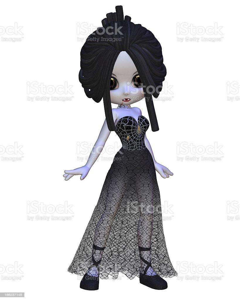 Toon Halloween Vampire Woman stock photo