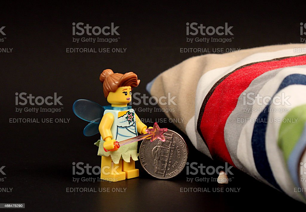 Tooth Fairy at Night stock photo