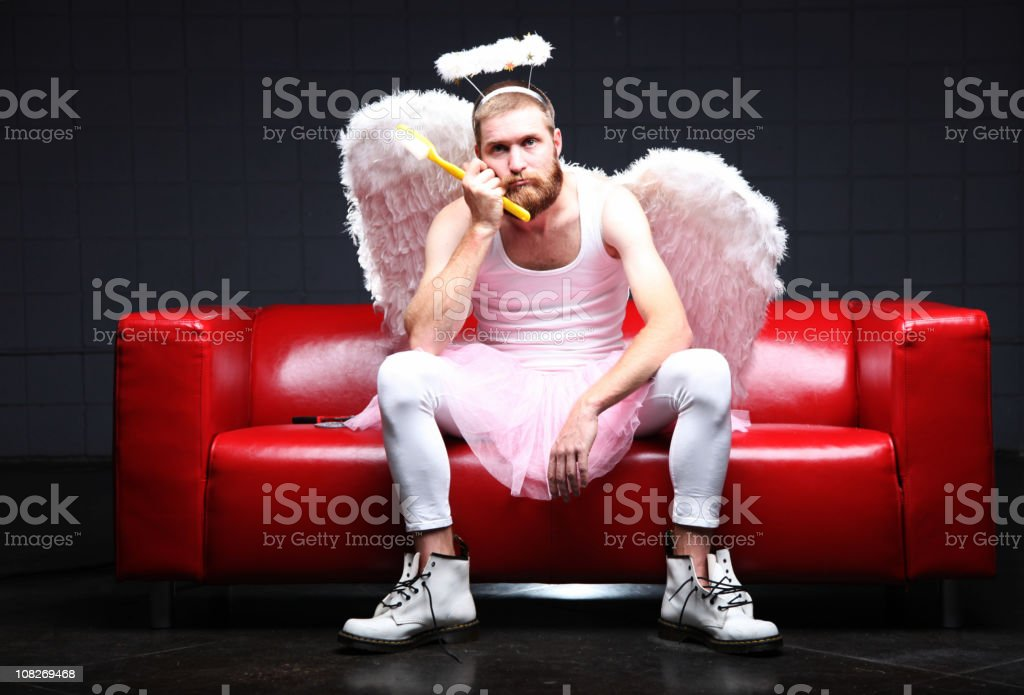 Tooth Fairy: bored and waiting stock photo