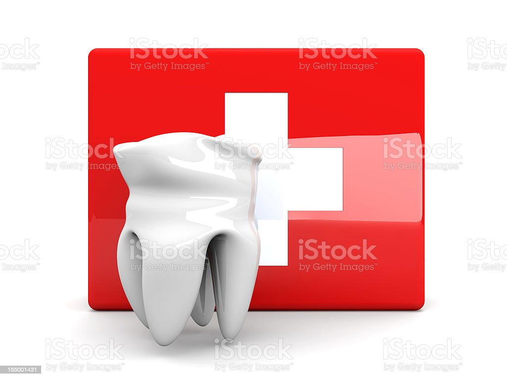 Tooth First aid royalty-free stock photo