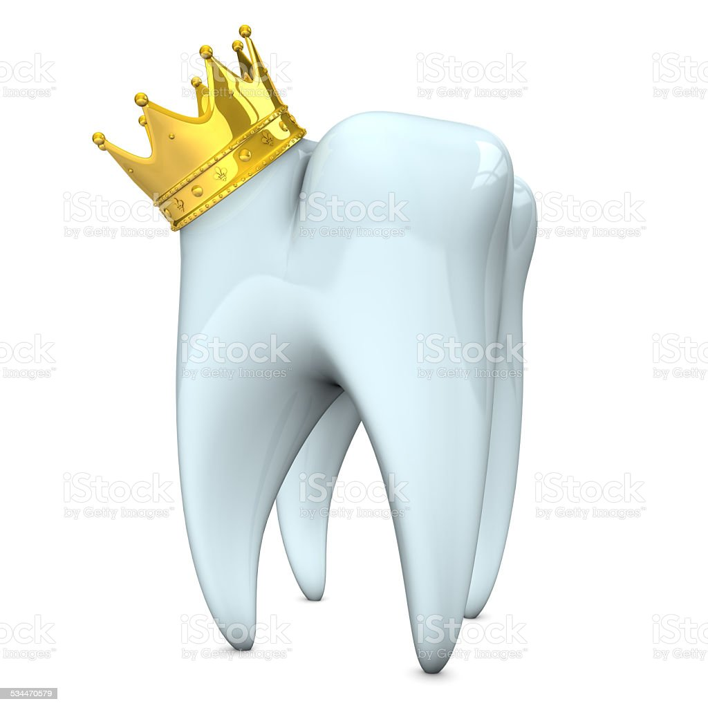 Tooth Small Crown stock photo